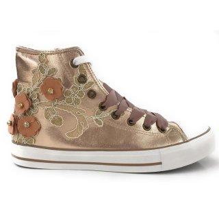 Krüger Madl Damen Sneaker Glowing Flower Kupfer 4707-12 Größe 40