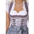 Krüger Damen Dirndl Mini, Modell: Dirndl Scarlett (60 cm), Knielang, 60cm, Art.-Nr. 047826-0-0044, 32, grau