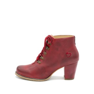 Spieth & Wensky Trachtenschuhe Damen Trachtenstiefel Tanja 482-D Ziegenleder Rot, Größe:39