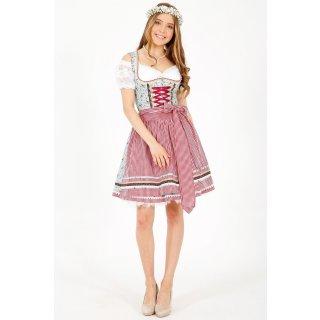 Krüger Madl Damen 46735 Kleid, Mehrfarbig (blau-rot 809), (Herstellergröße: 36)