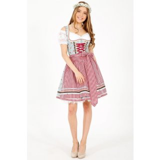 Krüger Madl Damen Dirndl Strawberry Mini 50cm Blau/Rot 46735-809