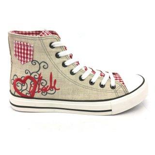 Krüger Madl Damen Sneaker Red Heart Rot 4101-7 Größe 40