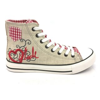 Krüger Madl Damen Sneaker Red Heart Rot 4101-7 Größe 41