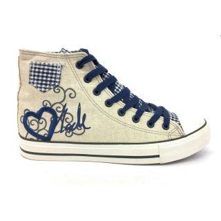 Krüger Madl Damen Sneaker Blue Heart Blau 4104-8 Größe 36