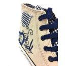 Krüger Madl Damen Sneaker Blue Heart Blau 4104-8 Größe 38