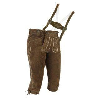 Spieth & Wensky Herren Trachten Kniebund Lederhose Wildbock Modell Valentin Braun-Khaki H-Stegträger Gr.64