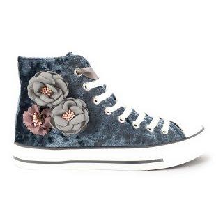 Krüger Madl Damen Sneaker Blumentraum Blau 4714-8 Größe 35