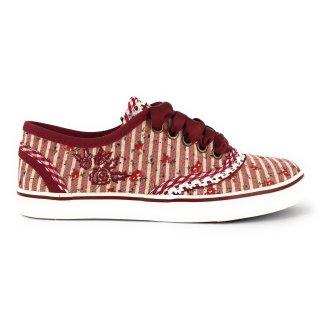 Krüger Madl Damen Sneaker Rosso Rot 4432-9 Größe 36