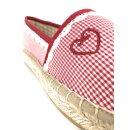 Krüger Madl Damen Espadrilles Red Check Rot 4142-9 Größe 40