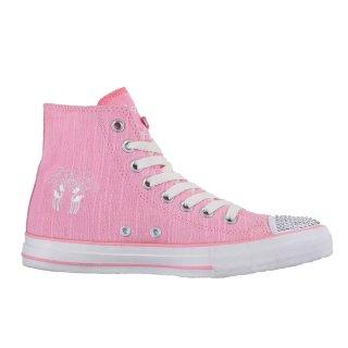 Krüger Madl Damen Sneaker Glitter Toe Cap Rosa 4112-35 Größe 42