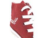 Krüger Madl Damen Sneaker Glitter Toe Cap Rot 4112-9 Größe 37