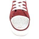 Krüger Madl Damen Sneaker Glitter Toe Cap Rot 4112-9 Größe 39
