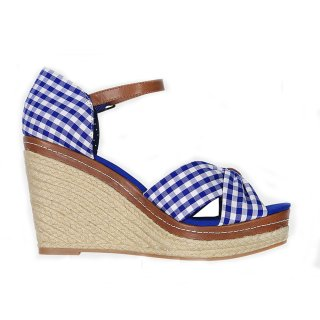 Krüger Madl Damen Wedges Duchess Blau 4135-8